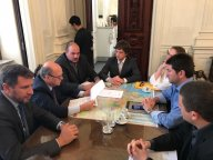 Vereadores Lucas Stoll e Diogo Weiss (PP),  buscam emenda parlamentar do Deputado Jeronimo Goergen.